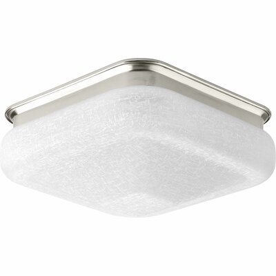 Jayceon 1-Light Flush Mount Finish: Brushed Nickel, Size: 4.88 H x 11.5 W x 11.5 D