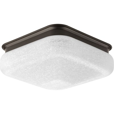 Jayceon 1-Light Flush Mount Finish: Antique Bronze, Size: 4.88 H x 11.5 W x 11.5 D