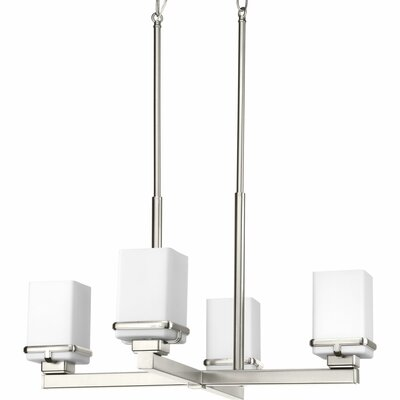 Chen 4-Light Chandelier Finish: Brushed Nickel