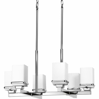 Chen 6-Light Chandelier Finish: Polished Chrome