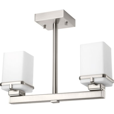 Chen 2-Light Semi Flush Mount Finish: Brushed Nickel