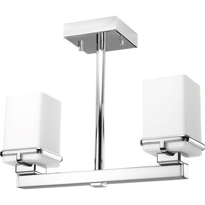 Chen 2-Light Semi Flush Mount Finish: Polished Chrome