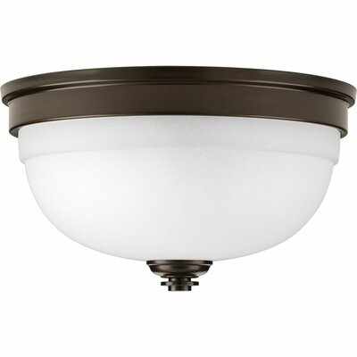 Dolla 2-Light Flush Mount Finish: Antique Bronze