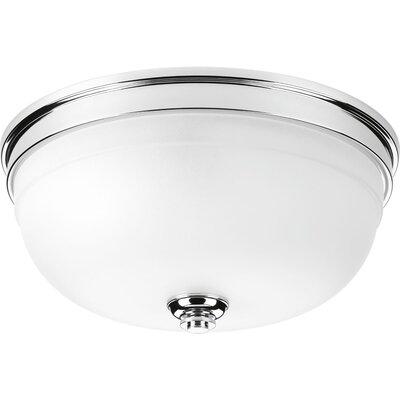 Dolla 3-Light Flush Mount Finish: Polished Chrome, Size: 6.25 H x 15 W x  15 D