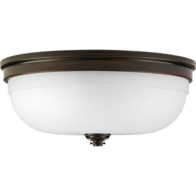 Dolla 3-Light Flush Mount Finish: Antique Bronze, Size: 6.25 H x 13.63 W x  13.63 D