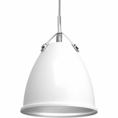 Cherrelle 1-Light Inverted Pendant Finish: White, Size: 13.25 H x 10 W x 10 D
