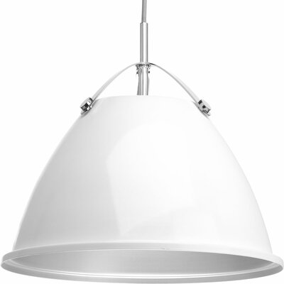 Cherrelle 1-Light Inverted Pendant Finish: White, Size: 13.25 H x 15 W x 15 D