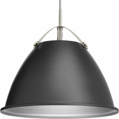 Cherrelle 1-Light Inverted Pendant Finish: Graphite, Size: 13.25 H x 15 W x 15 D