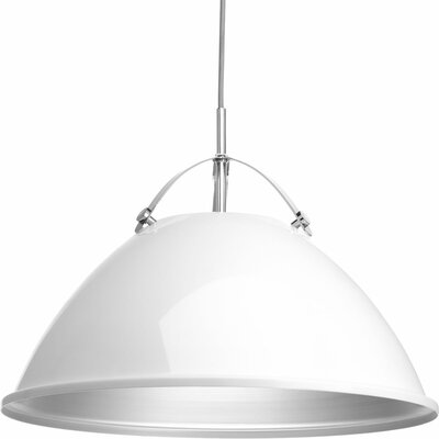 Cherrelle 1-Light Inverted Pendant Finish: White, Size: 14.5 H x 20 W x 20 D