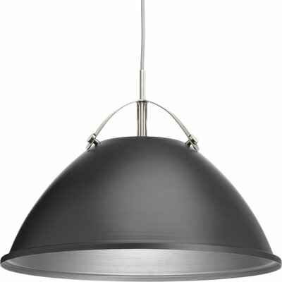 Cherrelle 1-Light Inverted Pendant Finish: Graphite, Size: 14.5 H x 20 W x 20 D