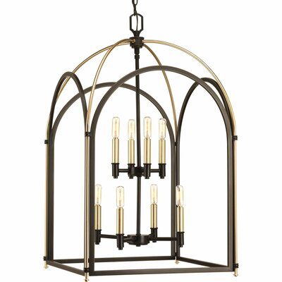 Mcdonagh 8-Light Foyer Pendant Finish: Antique Bronze
