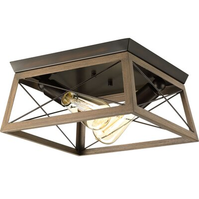 Blevins 2-Light Flush Mount Finish: Antique Bronze