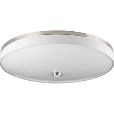 Gaurav 3-Light Flush Mount Finish: Brushed Nickel