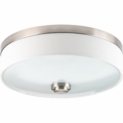 Gaurav 1-Light Flush Mount Finish: Brushed Nickel