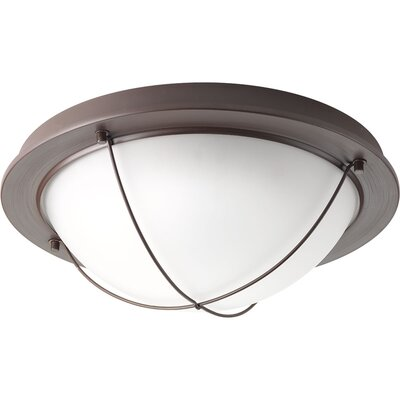 Portal 1-Light Flush Mount Finish: Antique Bronze