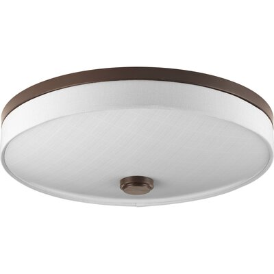 Weaver 2-Light Flush Mount Finish: Antique Bronze