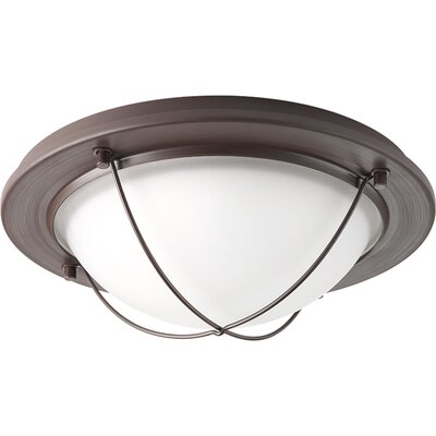 Nitesh 1-Light Metal Flush Mount Finish: Antique Bronze