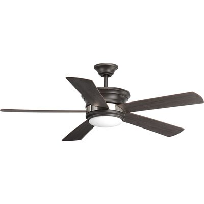 54 Seaton 5 Blade LED Ceiling Fan with Remote Finish: Graphite
