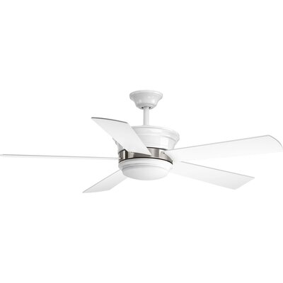 54 Seaton 5 Blade LED Ceiling Fan with Remote Finish: White