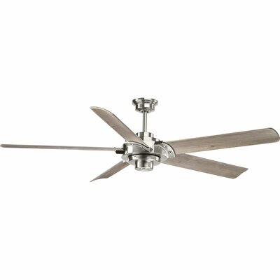 68 Thainara 5 Blade Ceiling Fan with Remote Finish: Brushed Nickel