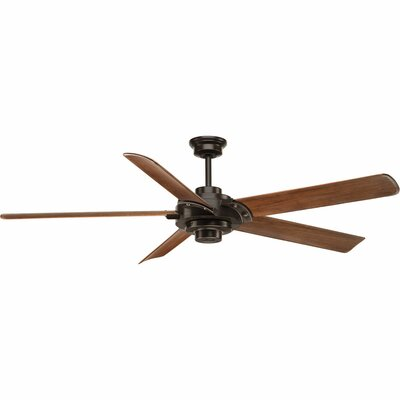 68 Thainara 5 Blade Ceiling Fan with Remote Finish: Antique Bronze with Walnut Blades