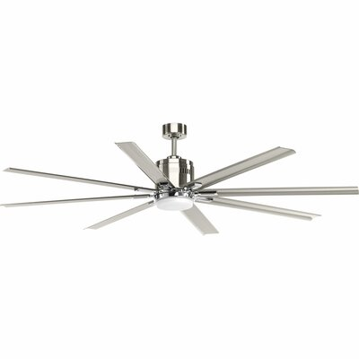 72 Bankston 8 Blade LED Ceiling Fan with Remote Finish: Brushed Nickel
