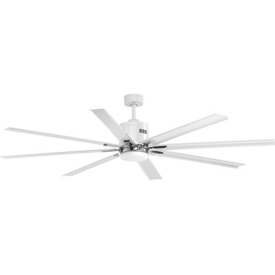 72 Bankston 8 Blade LED Ceiling Fan with Remote Finish: White