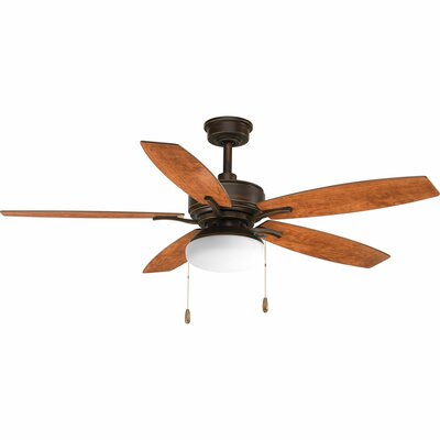 52 Segars 5 Blade LED Ceiling Fan with Pull Chain Finish: Antique Bronze with Cherry Blades
