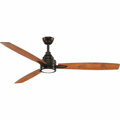 60 Aliff 3 Blade LED Ceiling Fan with Remote Finish: Antique Bronze