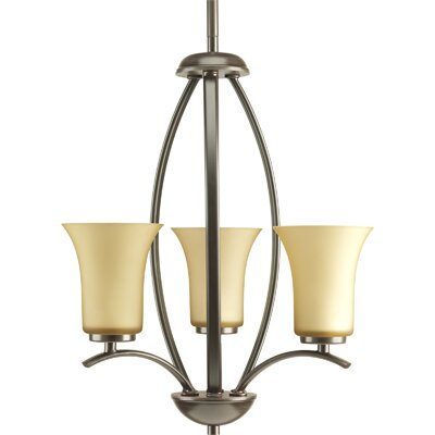 Jilliann Contemporary 3-Light Shaded Chandelier Finish: Antique Bronze