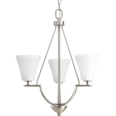 Karla Modern 3-Light Shaded Chandelier Finish: Brushed Nickel