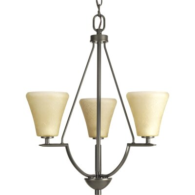 Karla Modern 3-Light Shaded Chandelier Color: Antique Bronze