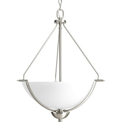 Karla 3-Light Inverted Pendant Color: Brushed Nickel