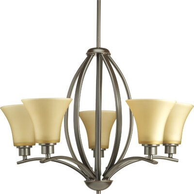 Joy 5-Light Shaded Chandelier Finish: Antique Bronze