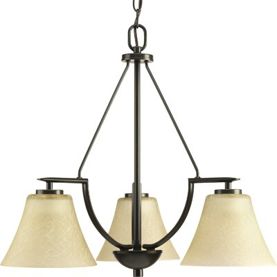 Bravo 3-Light Shaded Chandelier Finish: Antique Bronze