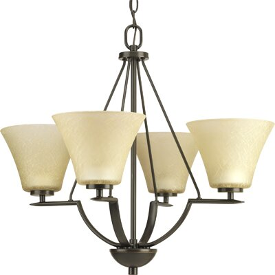 Bravo 4-Light Shaded Chandelier Finish: Antique Bronze