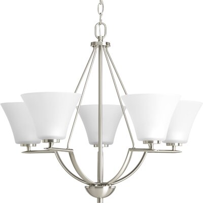 Bravo 5-Light Shaded Chandelier Finish: Brushed Nickel