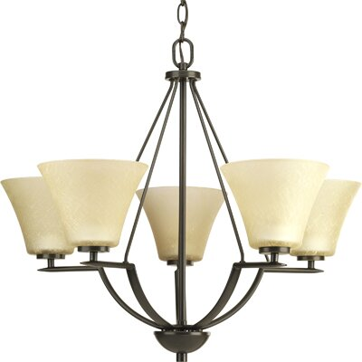 Karla Modern 5-Light Shaded Chandelier Finish: Antique Bronze