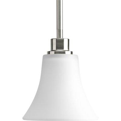 Jilliann 1-Light Bell Mini Pendant Finish: Brushed Nickel
