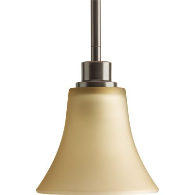 Jilliann 1-Light Bell Mini Pendant Finish: Antique Bronze