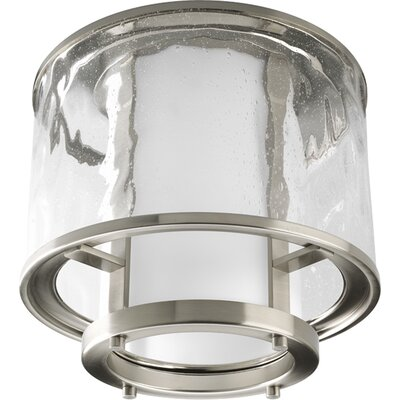 Triplehorn Light Flush Mount Finish: Brushed Nickel, Size: 7.37 H x 15 W