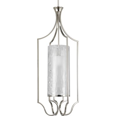 Caress 1-Light Foyer Pendant Size: 44.75 H x 18 W