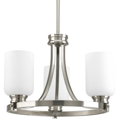 Raynard 3-Light Shaded Chandelier Finish: Brushed Nickel