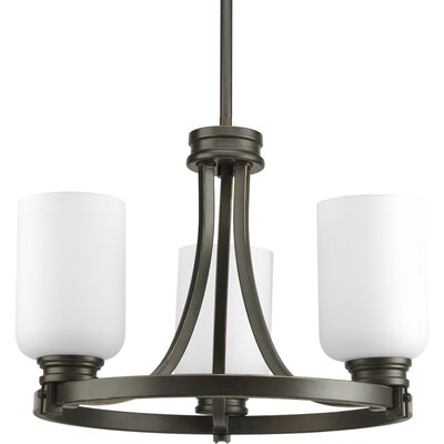 Orbitz 3-Light Shaded Chandelier Finish: Antique Bronze