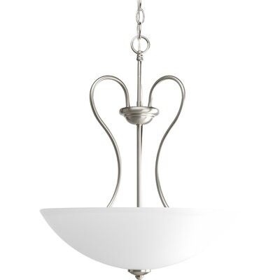 Heart 3-Light Hall and Foyer Inverted Pendant