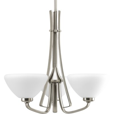 Teodora 3-Light Shaded Chandelier Finish: Brushed Nickel