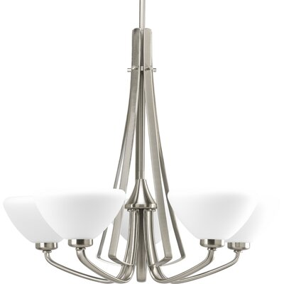 Teodora 5-Light Shaded Chandelier Finish: Brushed Nickel