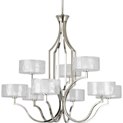 Caress 9-Light Shaded Chandelier