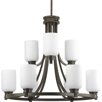 Orbitz 9-Light Shaded Chandelier Finish: Antique Bronze