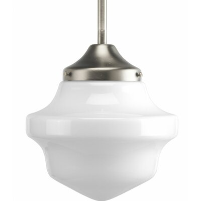 Barbera 1-Light Mini School House Schoolhouse Pendant Finish: Brushed Nickel